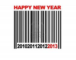 happy new year bar code